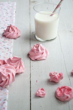 Roze meringues - Uit Pauline's Keuken
