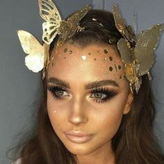 Gilded Butterflies : Gilded Butterflies - Festival Outfits And Beauty Inspo For The Free Spirit In All Of Us - Photos Butterfly Halloween Costume, Couple Halloween Costumes, Halloween Outfits, Halloween Looks, Halloween Makeup, Kid Halloween, Ibiza Outfits, Rave Outfits, Music Festival Outfits