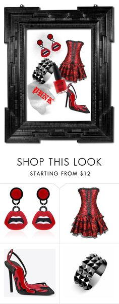"""punk style 1."" by gabriella-bagdine-meszaros on Polyvore featuring WithChic, Waterford, CND and Linda Horn"