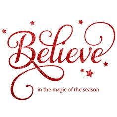 Believe in the Magic of the Season SVG DXF by CutAlready