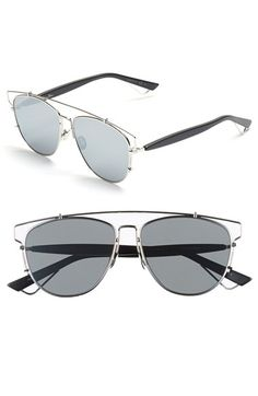 63aeab0516 Dior Technologic 57mm Brow Bar Sunglasses