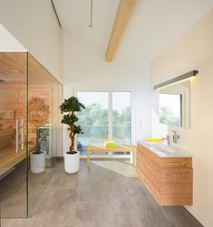 Keitel Haus, Bad Inspiration, Home Spa, Corner Bathtub, Kitchen Island, House Plans, Ikea, House Design, Sauna