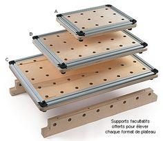 Plateaux de serrage Worksurface™ Veritas® - Travail du bois