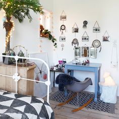 Scandi-style bedroom dressing area