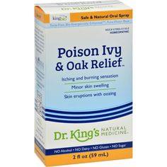 King Bio Homeopathic Poison Ivy Oak Relief - 2 fl oz
