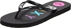Roxy Womens Bahama III Thongs Flip Flops Sandals Black >>> Learn more by visiting the image link.