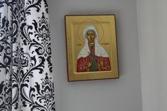 """""""Until I met Peter I didn't know that there was a Saint Stephanie, a second century Christian martyr along with Saint Victor. Peter had this icon of St. Stephanie commissioned for me shortly after we were married, and it took the artist several years to complete. He gave it to me for a 5th anniversary gift. Isn't it amazing?"""""""
