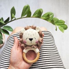 amigurumi pattern This template is available in English. Pattern knitting rattle Lion in PDF format contains 10 pages of detailed description and 17 photos of the process. Crochet l Crochet Lion, Crochet Baby Toys, Crochet Toys Patterns, Amigurumi Patterns, Stuffed Toys Patterns, Free Crochet, Baby Rattle, Amigurumi Toys, Handmade Toys