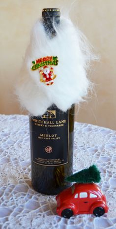 How To Decorate A Wine Bottle For A Gift Just Listed Sale 5 Dollars Off For Christmashandbagsbydyana