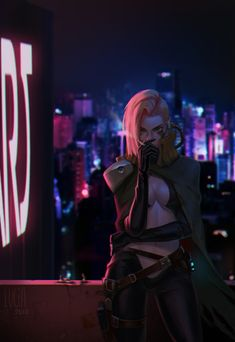 Thera by Lucia Hsiang : Cyberpunk Cyberpunk 2077, Cyberpunk Kunst, Cyberpunk Girl, Cyberpunk Fashion, Cyberpunk Tattoo, High Fantasy, Fantasy Girl, Science Fiction, Female Character Design