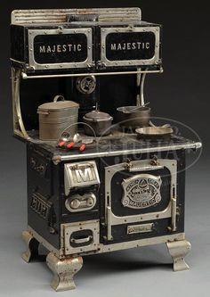 Vintage SALESMAN SAMPLE MAJESTIC STOVE. ~Repinned via Lilah Dahl http://jamesdjulia.com/auctions/view_lot_info.asp?lot=3361-343