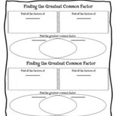 venn diagram gcf foldable common factors venn diagrams and diagram. Black Bedroom Furniture Sets. Home Design Ideas