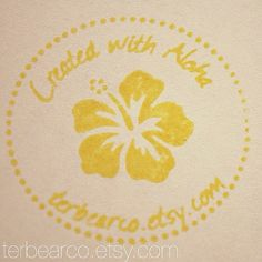 Hibiscus Created with Aloha custom Rubber Stamp, Hawaiian Handmade Stamp flower on Etsy, $29.99