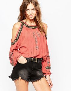 Image 1 of Free People Cold Shoulder Top