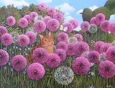Alan Parry: Cat Amongst the Alliums