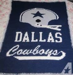 Image result for Dallas Cowboys Crochet Afghan Pattern