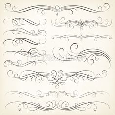 Calligraphy Swirls royalty-free calligraphy swirls stock vector art & more images of calligraphy Calligraphy Fonts Alphabet, Tattoo Fonts Alphabet, Cursive Alphabet, Hand Lettering Alphabet, Easy Caligraphy, Tattoo Lettering Styles, Graffiti Lettering Fonts, Chicano Lettering, Lettering Design