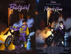 Batgirl-Comic-Purple Rain-Prince-Movie-Cover