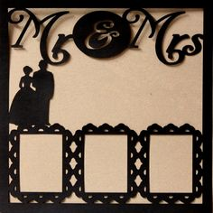 "Copy of Die-Cut Cardstock Mr. & Mrs. Wedding #2 11.50"" x 11.50"" Scrapbook Page Overlay is available at Scrapbookfare."
