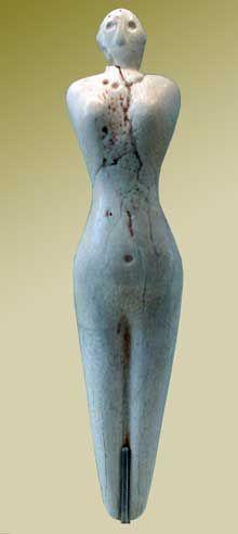Predynastic Egypt Nagada I - Statuette de Femme