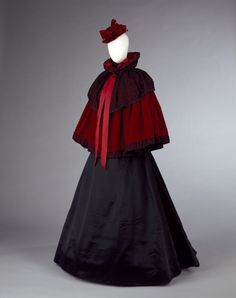 Filly out for a walk in town - from The Christmas Bargain holiday romance. (Winter Ensemble,1890s,The Victoria & Albert Museum)