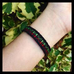 2 for $7 ⇨ Black/Red/Green Macrame Bracelet ❌PLEASE DON'T BUY THIS LISTING❌ I will create a new listing with this same bracelet/bundle.❣Match the 2 for $7  to save even more/pick any bracelet of your choice & I will give you a discount on bundle anyway❣Price is firm otherwise bundled.   Unique patterned macrame bracelet with black, red, & green thread. ⓢⓘⓩⓔ: Bracelet's 9 1/2 inches long (size may vary) Jewelry Bracelets