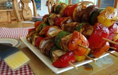 summertime bbq ideas | This jazzy shish kebab will satisfy vegans and meat-eaters alike.