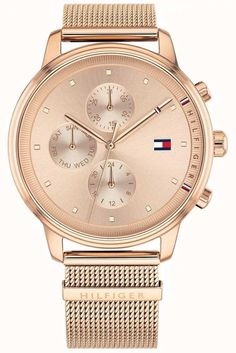 c29ae63bc37 Tommy Hilfiger 1781907 - In stock. The Mens Tommy Hilfiger Watch 1781907  includes a rose