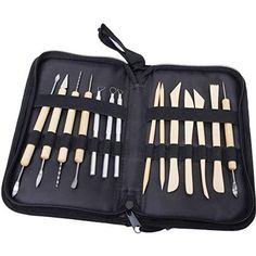 GBP - Pottery Clay Sculpture Carving Tools W/ Nylon Storage Case Diy Crafts & Garden Pottery Tools, Pottery Art, Pottery Clay, Diy Accessoires, Discount Rugs, Discount Sites, Discount Price, Arts And Crafts, Diy Crafts