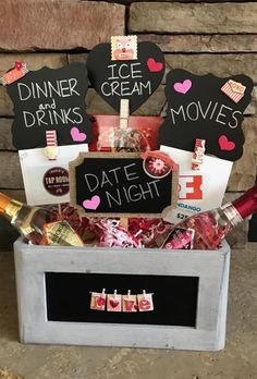 154 Best Date Night Images Gifts Diy Gift Baskets Date Night