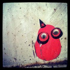 Tiny #streetart #sticker #wise #magician #owl #wizard with #largeeyes  #katutaidetta #pöö #pöllövelho