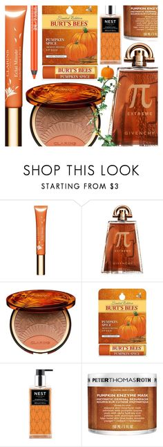 """Pumpkin Spice"" by ana3blue ❤ liked on Polyvore featuring beauty, Clarins, Givenchy, Burt's Bees, Nest Fragrances, Peter Thomas Roth and Urban Decay"