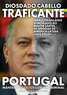 Diosdado Cabello, narcotraficante y segundo de Nicolás Maduro, dictador de Venezuela.
