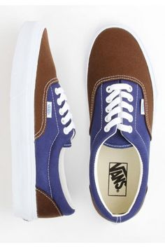 Vans Era Shoes - (Vintage) Brown/Estate Blue $45.00 #vans