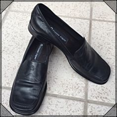 JUST IN Etienne Aigner black leather loafers Gorgeous Etienne Aigner black leather loafers. Worn once to try on & in flawless like-condition. Size 7.5M. 10% off bundles! NO TRADES, no modelingReasonable offers accepted thru the offer button Etienne Aigner Shoes Wedges