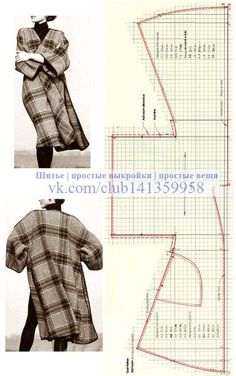 Sewing tutorials step by step projects ideas for 2019 Tutoriales de costura paso a paso proyectos ideas para 2019 coser Coat Patterns, Clothing Patterns, Sewing Patterns, Coat Pattern Sewing, Sew Pattern, Dress Patterns, Kimono Pattern Free, Sewing Coat, Pattern Dress