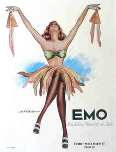 Vintage silk stocking ad