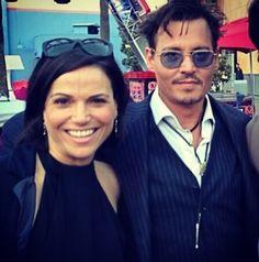Lana parrilla and Johnny depp