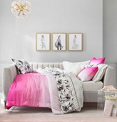 Shop Now Teen Bedding, Duvet Bedding, Pottery Barn Kids Backpack, Beds For Sale, Home Office Space, Pottery Barn Teen, Bed Styling, Dorm Rooms, Room Inspiration