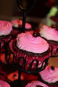 Dr. Pepper Cupcakes with Cherry Vanilla Buttercream