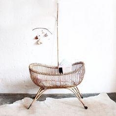 Current crush: Rattan baby bassinet