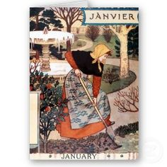 Month of January - Janvier card