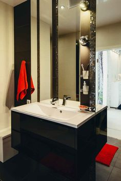 Small Apartments, Small Spaces, Studio Apartment Design, Bathroom Lighting, Vanity, Mirror, Furniture, Home Decor, Small Space