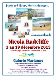 Argelès-sur-Mer : Nicola Radcliffe expose du 2 au 19 décembre à la galerie Marianne