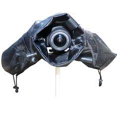 Professional Camera Rain Cover Protector for Medium to Large DSLR Cameras, Canon EOS, Nikon, Olympus, Pentax, Fuji, Sony, Panasonic