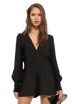 Sultry Romper in Black/white | Necessary Clothing