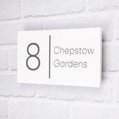 Contemporary Doors, Modern Door, Contemporary Design, Contemporary House Numbers, Modern Design, Door Number Plaques, Door Numbers, House Number Plates, House Numbers Uk