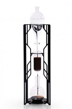 """Dutch Labs """"TRON"""" aluminium and glass pour-over coffee maker"""