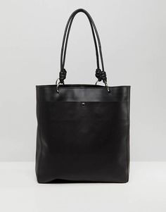 ASOS Leather Knot Handle Shopper
