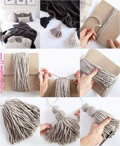Creating awesome homemade cozy diy does not require serious artistic talent. - Creating awesome homemade cozy diy does not require serious artistic talent. Get… Creating awesome homemade cozy diy does not require serious artistic talent. Rope Crafts, Yarn Crafts, Diy And Crafts, Cute Diy Crafts For Your Room, Creation Deco, Diy Tassel, Diy Wall Decor, Diy Wall Hanging, Easy Diy Room Decor